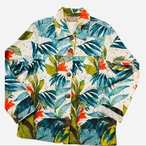 Life Style floral light jacket Large